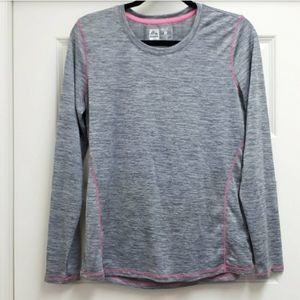 RBX light heathered grey & pink longsleeve
